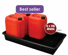 6x 20L/60L Oil Chemical Bunded Drip Sump Spill Pallet Tray Removable base grid
