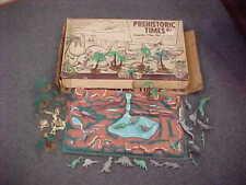 Vintage Marx Prehistoric Times #3392 Playset Terrain Cavemen Trees Dinosaurs Box