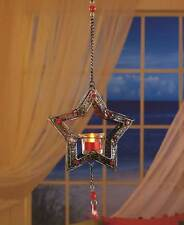 Charming Christmas LED Hanging STAR TEA LIGHT LANTERN, NEW!