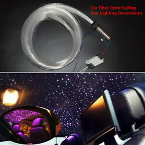 3W 12V DIY Audio Fiber Optic Star Light kit For Car Headliner Roof Ceiling Light