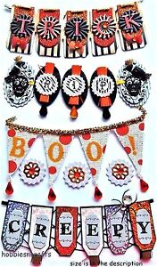 HALLOWEEN WORD BANNERS Jolee's Boutique 3-D Gemstone Stickers Trick or Treat