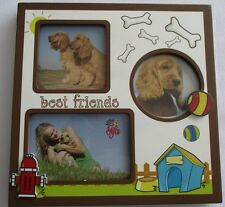 "Dog  Picture Frame (Best Friend) 7.5""x7.5"" holds 3 pictures"