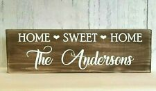 Home Sweet Home Sign Personalised Rustic New Home Housewarming Wedding Gift