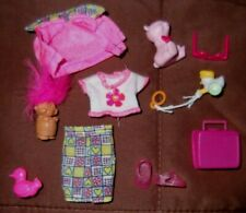 Barbie Doll Clothes - KELLY PRINT PANTS, WHITE TOP, PINK JACKET, SHOES & TOYS