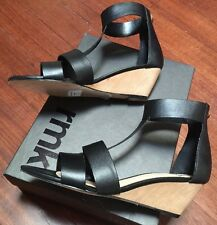 SEXY 💞 New Genuine Leather RMK Heels SANDALS SHOES Wedges  39 Or 8