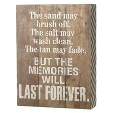 I ricordi per sempre l'ultimo grande in legno Parola Blocco-Casa Vacanze Scaffale Cabina da Spiaggia da