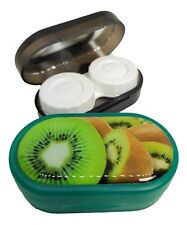 Funky Fruit Mirror Case Contact Lens Soaking Storage Case UK MADE - Green Kiwi