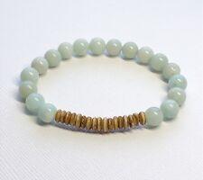 Amazonite Shell Bead Bracelet- Stacking- Layering- Sundance- Ocean- Water Colors