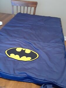 Pottery Barn Blue Batman Sleeping Bag 28x50 Rare