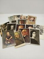 Lot of 36 Vintage Portrait Art Artwork Postcards Old Sketches Drawings Picasso