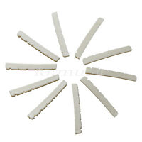 Electric Guitar Nut for Fender Strat 10 Pcs White ABS