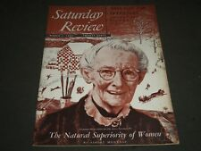 1952 MARCH 1 SATURDAY REVIEW OF LITERATURE MAGAZINE - GRANDMA MOSES - ST 4931