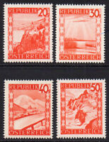 Austria 4 Stamps c1947-48 Unmounted Mint Never Hinged (7910)