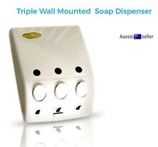 Bathroom Triple Soap Dispenser Bathroom Shower Shampoo Wall Mounted 400ml each