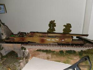 "Lima 303501 12-achsiges Eisenbahngeschütz K 5 ""Leopold""  Wehrmacht DR modified"