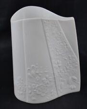 Kaiser Porcelain Vase Matte Finish Blanche De Chine Mid Century Signed M. Frey
