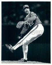 1984 ML Baseball Pitcher Jim Bibby Texas Rangers Press Photo