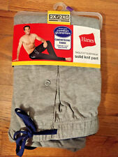 Hanes Tagless Sleepwear Solid Knit Pant Gray Underwear Pajama Long Pants  XXL