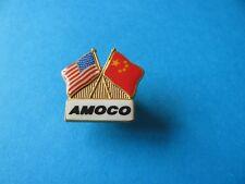 AMOCO OIL / Petrol Company Pin Badge. VGC. Enamel.