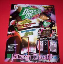 Konami DANCE DANCE REVOLUTION 1998 Original NOS Video Arcade Game Promo Flyer