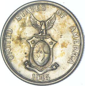 Better Date - 1945 Philippines 50 Centavos - SILVER *621