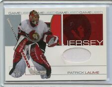 2001-02 IN THE GAME BE A PLAYER UPDATE PATRICK LALIME GAME WORN JERSEY