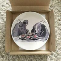 Disney Art Exhibition Tokyo Limited Lady and the Tramp Mini Dish Plate NEW F/S
