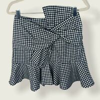 Sage The Label Revolve Let Go Skirt Gingham Print Plaid Womens Size Large Bow