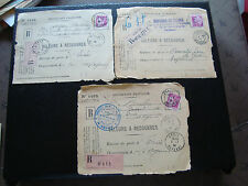 FRANCE - 3 devant d enveloppe 1934 (Z10) french