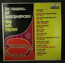 The Music Goes 'Round And Round - Original Hit Performances! The Late Thirties