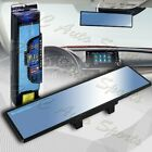 Broadway 240mm Wide Flat Interior Clip On Rear View Blue Tint Mirror Universal