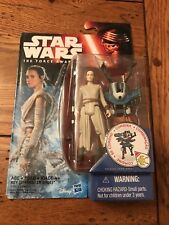 "Disney Hasbro Star Wars The Force Awakens REY STARKILLER BASE Figure 3.75"""