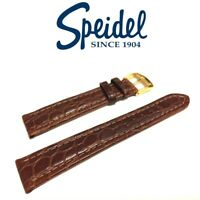 19mm SPEIDEL 546630 BROWN MATTE ALLIGATOR GRAIN MEDIUM PADDED WATCH BAND STRAP