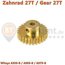 27T Zahnrad Wltoys A959-B-15 A969-B A979-B 540 Motor Gear 1:18 RC Car Ritzel