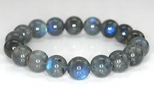 "10MM BEAUTY LABRADORITE GEMSTONE GRADE AA ROUND Bracelet 7.5 ""AAA"