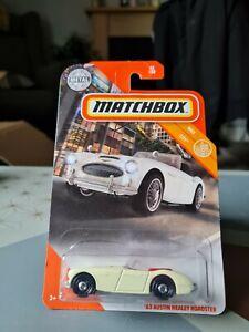 MATCHBOX '63 AUSTIN HEALEY ROADSTER #42 CREAM USA LONG CARD BRAND NEW UK STOCK