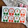 24 Siegel Frohe Weihnachten Abzeichen Aufkleber Umschlag Siegel Geschenk L li
