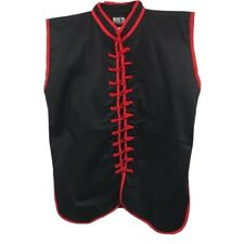 Bold Look Mens Kung Fu Vest Black Red Frog Mandarin Sleeveless Martial Arts 4
