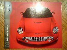 2003 Thunderbird, NOS, Prestige Sales Brochure