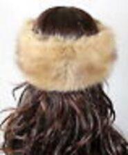 Posh Luxury Ladies Top Quality Faux Beige Fur Headband for Christmas!