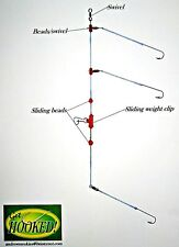 60lb greased weasle 5 x pennel pulley rigs  2 x 3//0 aberdeens 25lb snoods.