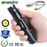 ZOOM Tactical 20000LM XML-T6 LED Flashlight 18650 USB Rechargeable Torch Outdoor