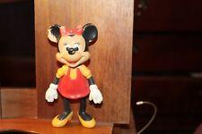 "Vintage 1970's Plastic Minnie Mouse 5-1/2"" Walt Disney Productions Vinyl Head"