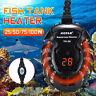25-300W Mini Aquarium Heater Fish Tank Turtle Submersible Thermostat LED Light