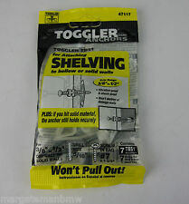 7x Genuine Toggler Anchors for attaching shelving to hollow/solid walls 7TBS1