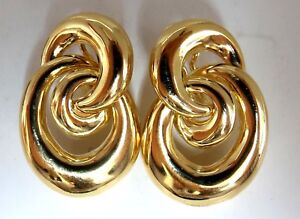 18kt. Three Dimensional intertwined Style Clip earrings