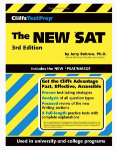 SAT Study Guide Cliffs Test Prep 3rd Edition New High School Student Paperback