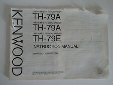 KENWOOD TH-79A/E (GENUINE MANUAL ONLY).......RADIO_TRADER_IRELAND.