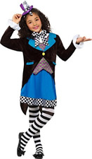 Little Miss Hatter Costume, Multi-Coloured, with Dress, Attached Wa.. COST-W NEW