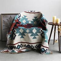 Geometric Bohemian Tribal Ethnic Aztec Navajo Blanket Throw Rugs Sofa Art Mat
